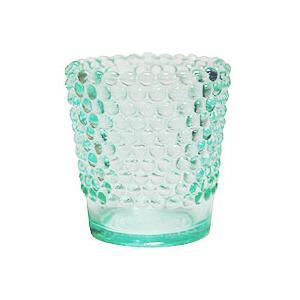 カメヤマ KAMEYAMA キャンドルホルダー ホビネルグラス エメラルド 6個セット|beautyfactory