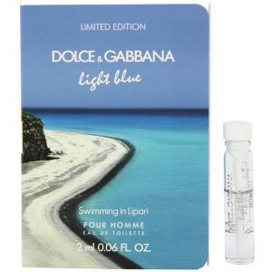 ドルチェ&ガッバーナ DOLCE&GABBANA ライトブルー プールオム スイミング イン リーパリ (チューブサンプル) EDT・BT 2ml 香水 フレグランス|beautyfactory