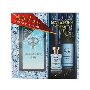 LOVE&PEACE ラブ&ピース メン 夏季限定コフレセット (2013) 香水 フレグランス LOVE AND PEACE MEN EDP / STAINLESS THERMO BOTTLE|beautyfactory