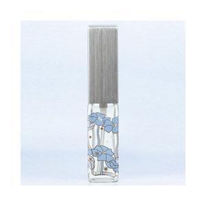 ヤマダアトマイザー YAMADA ATOMIZER ハンドメイドグラスアトマイザー メタルポンプ 18010 角ビン転写 キャップ ヘアラインシルバー ポンプ シルバー 約4ml|beautyfactory