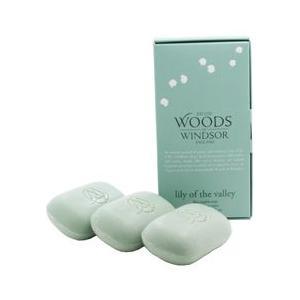 ウッズ オブ ウィンザー WOODS OF WINDSOR リリーオブザバレー ファインイングリッシュソープ 100g×3個入り LILY OF THE VALLEY FINE ENGLISH SOAP|beautyfactory