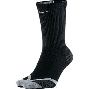 ナイキ NIKE エリートランニングクッション クルーソックス [サイズ:23〜24cm] [カラー:ブラック×ウルフグレー×ウルフグレー] #SX4851-010|beautyfactory