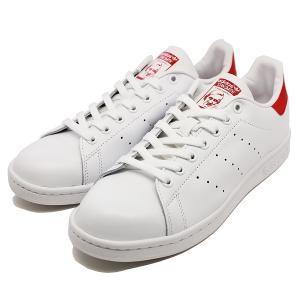 ADIDAS アディダス スタンスミス [サイズ:24cm(US6)] [カラー:ホワイト×レッド] #M20326 adidas STAN SMITH RWHI/RWHI/COLRED|beautyfactory