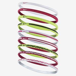ナイキ NIKE エラスティック ヘアーバンド 9本パック [カラー:ホワイト×ビビッドピンク] #BN2024-105|beautyfactory