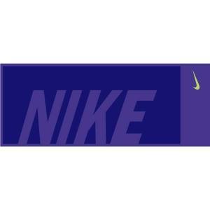ナイキ NIKE ジャガードタオル ミディアム(箱入り) [カラー:パラマウントブルー×ディープロイヤルブルー] [サイズ:L76cm×W35cm] #TW2512-430|beautyfactory