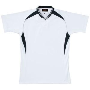 ゼット ZETT ベースボールシャツ BOT740A [カラー:ホワイト×ブラック] [サイズ:L] #BOT740A|beautyfactory