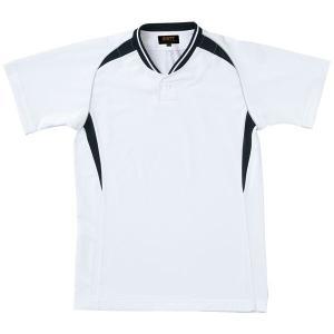 ゼット ZETT ベースボールシャツ(ジュニア用) [カラー:ホワイト×ブラック] [サイズ:160] #BOT740JA|beautyfactory