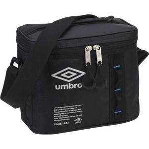 アンブロ UMBRO クーラーバッグM(500mlペットボトル6本収納可) [カラー:ブラック×イビザブルー] [サイズ:23×19×14cm] #UUANJA18-BKIB|beautyfactory