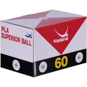 ヤサカ YASAKA プラ スペリオールボール 卓球プラスティックボール 練習球 [カラー:ホワイト] #A-53 5ダース入り(60球)
