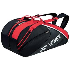 ヨネックス YONEX ラケットバッグ6(リュック付) テニスラケット6本用 BAG1732R [カラー:ブラック×レッド] #BAG1732R-187|beautyfactory