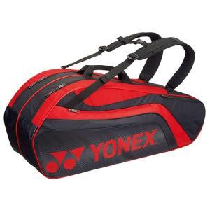 ヨネックス YONEX ラケットバッグ6(リュック付) テニスラケット6本用 BAG1812R [カラー:ブラック×レッド] #BAG1812R-187|beautyfactory