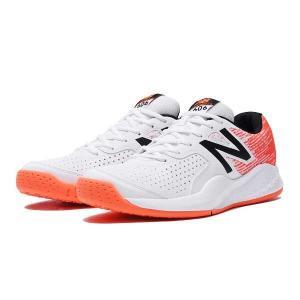 ニューバランス NEW BALANCE MC606 テニスシューズ(オムニ・クレーコート用) [サイズ:26.5cm(2E)] [カラー:ホワイト×オレンジ] #MC606WO3|beautyfactory