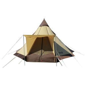 ファミリーやグループで楽しめる新スタイルのワンポールテント。大型サイズながらキャンプにも適用。ボトム...