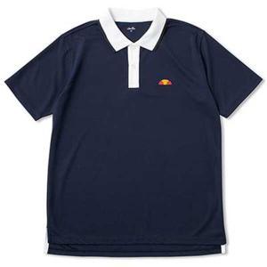 エレッセ ELLESSE ポロシャツ(ユニセックステニスウェア) [サイズ:M] [カラー:ネイビー×ホワイト] #ETS06200-NW|beautyfactory
