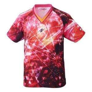 ニッタク NITTAKU 卓球ゲームシャツ スカイオーロラシャツ [サイズ:M] [カラー:ピンク] #NW-2183-21 SKYAURORA SHIRT|beautyfactory