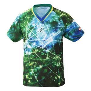 ニッタク NITTAKU 卓球ゲームシャツ スカイオーロラシャツ [サイズ:M] [カラー:グリーン] #NW-2183-40 SKYAURORA SHIRT|beautyfactory