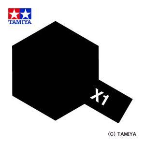 TAMIYA タミヤカラー アクリルミニ(光沢) X-1 ブラック|beautyfactory