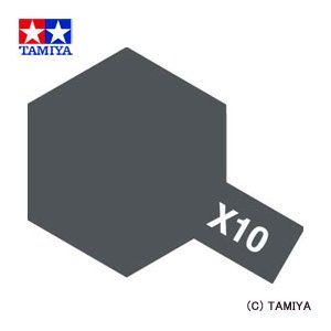 TAMIYA タミヤカラー アクリルミニ(光沢) X-10 ガンメタル|beautyfactory