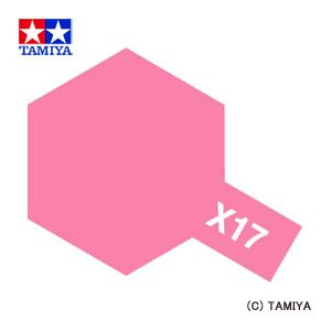 TAMIYA タミヤカラー アクリルミニ(光沢) X-17 ピンク|beautyfactory