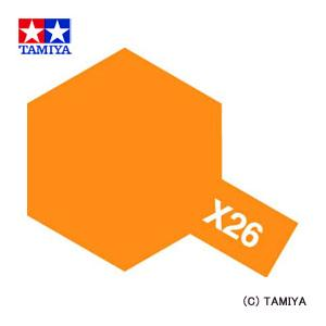 TAMIYA タミヤカラー アクリルミニ(光沢) X-26 クリヤーオレンジ|beautyfactory