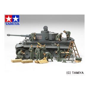 (最大500円OFFクーポン 9/30 23:00まで)タミヤ TAMIYA 1/48 ミリタリーミニチュアシリーズ No.47 WWII ドイツ戦車兵 野戦整備セット|beautyfactory