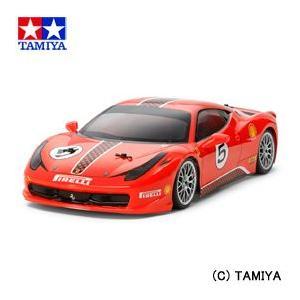 (最大500円OFFクーポン 1/31 23:00まで)タミヤ TAMIYA 1/10 電動RCカー No.563 フェラーリ458 チャレンジ (TA06シャーシ)|beautyfactory