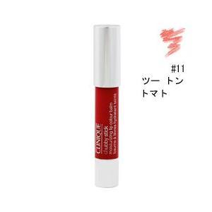 クリニーク チャビー スティック モイスチャライジング リップ カラー バーム #11 ツー トン トマト 3g CLINIQUE 化粧品|beautyfive