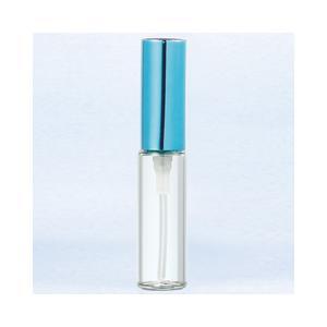 ヤマダアトマイザー グラスアトマイザー プラスチックポンプ 無地 5209 アルミキャップ ブルー 4ml YAMADA ATOMIZER|beautyfive