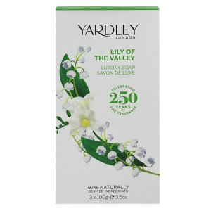 ヤードレー ロンドン リリーオブザバレー ラグジュアリー ソープ 3個セット 100g×3 YARDLEY LONDON LILLY OF THE VALLEY LUXURY SOAP|beautyfive