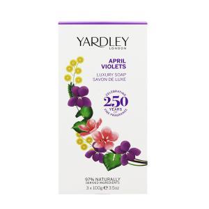 ヤードレー ロンドン エイプリル ヴァイオレット ラグジュアリー ソープ 3個セット 100g×3 YARDLEY LONDON APRIL VIOLETS LUXURY SOAP|beautyfive