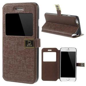 iPhone 6s / iPhone 6 iPhone6s ケース / iPhone6 ケース 4.7 inch 手帳型/横開き ビューウィンドウ レザーケースカバー スタンド機能付き コーヒー|beautyfive