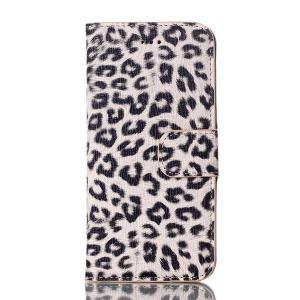 iPhone6s ケース / iPhone6 ケース 4.7 inch 手帳型/横開き ヒョウ柄 レザーケースカバー 財布/カードスロット付/スタンド機能付き ベージュ|beautyfive