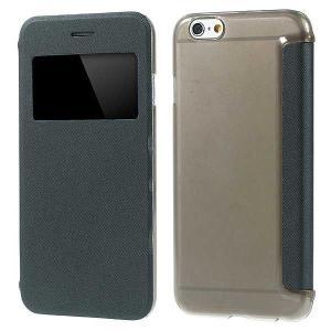 iPhone 6s / iPhone 6 iPhone6s ケース / iPhone6 ケース 4.7 inch 手帳型/横開き ビューウィンドウ レザーケースカバー 超薄型軽量 グレー|beautyfive
