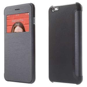 iPhone 6s Plus / iPhone 6 Plus iPhone6s Plus / iPhone6 Plus ケース 5.5 inch 手帳型/横開き ビューウィンドウ レザーケースカバー ディープブルー|beautyfive