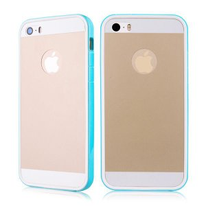 iPhoneSE / iPhone5s iPhone SE iPhone 5s バックプロテクターフィルムバンパーケース ブルー  iPhone 5s 5 Bumper Cases|beautyfive