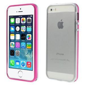 (500円OFFクーポン 1/31 23:00まで)iPhoneSE / iPhone5s iPhone SE iPhone 5s 二色アルミメタルフレームバンパーケース シルバー ローズ|beautyfive