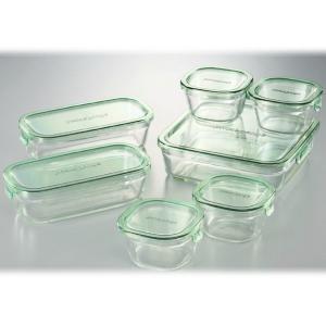 イワキ パック&レンジシステムセット (耐熱ガラス) PS-PRN-G7 IWAKI|beautyfive
