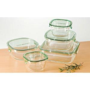 イワキ パック&レンジ角型 5点セット 耐熱ガラス PST-PRN-5G IWAKI|beautyfive
