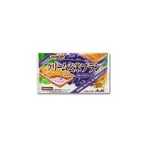 アサヒフードアンドヘルスケア バランスアップ クリーム玄米ブラン ブルーベリー 2枚×2袋入り×6個セット ASAHI FOOD&HEALTHCARE|beautyfive