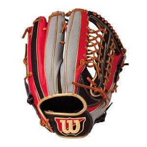 ウィルソン (左投げ用)Wannabe HERO DUAL 外野手用 一般軟式野球グラブ(左投げ) [カラー:ブラック×レッド×グレーSS] [サイズ:12] #WTARHED8FR-923GS WILSON|beautyfive