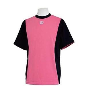 ウィルソン ハーフスリーブシャツ [サイズ:XL] [カラー:ネイビー×ピンク] #WTA18HS-NP WILSON|beautyfive