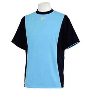 ウィルソン ハーフスリーブシャツ [サイズ:L] [カラー:ネイビー×サックス] #WTA18HS-NS WILSON|beautyfive