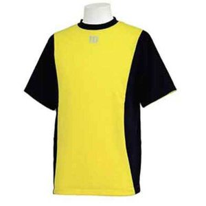 ウィルソン ハーフスリーブシャツ [サイズ:L] [カラー:ブラック×イエロー] #WTA18HS-BY WILSON|beautyfive