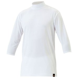 ゼット 野球用 アンダーシャツ ライトフィット ハイネック・7分袖 [カラー:ホワイト] [サイズ:L] #BO5420A ZETT|beautyfive