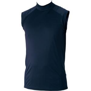 ゼット 野球用 ハイブリッドアンダーシャツ ハイネックノースリーブ [カラー:ネイビー] [サイズ:XO] #BO7720-2900 ZETT|beautyfive
