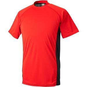ゼット ハイブリッドアンダーシャツ ローネック半袖(限定品) [サイズ:L] [カラー:レッド×シルバー] #BO1710G-6419 ZETT|beautyfive