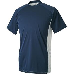 ゼット ハイブリッドアンダーシャツ 少年用ローネック半袖(限定品) [サイズ:140] [カラー:ネイビー×シルバー] #BO1710JG-2913 ZETT|beautyfive