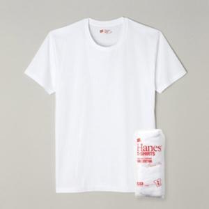 (500円OFFクーポン 9/30 23:00まで)ヘインズ ジャパンフィット(JAPAN FIT) クルーネックTシャツ(2枚組) [サイズ:S] [カラー:ホワイト] #H5110-010 HANES|beautyfive