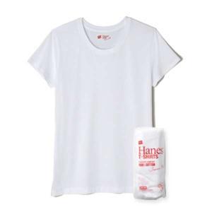 ヘインズ ウィメンズ ジャパンフィット クルーネックTシャツ(2枚組) [サイズ:L] [カラー:ホワイト] #HW5110-010 HANES Japan Fit for HER Crew Neck T-Shirt|beautyfive