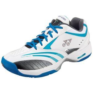 ヨネックス テニスシューズ パワークッション105D(クレー・砂入り人工芝コート用) [カラー:ホワイト×ブルー] [サイズ:23.0cm] #SHT-105D-207 YONEX|beautyfive